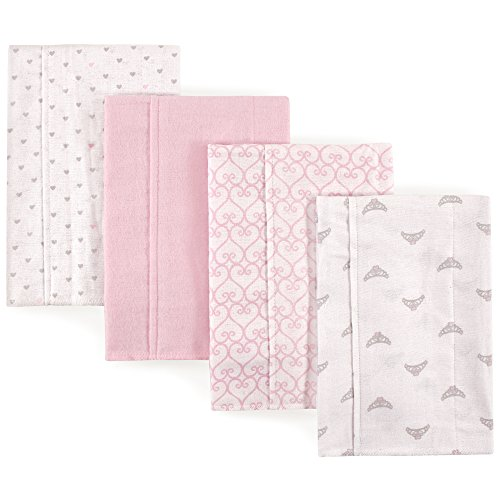 - Luvable Friends Baby Layered Flannel Burp Cloth, Princess 4Pk One Size