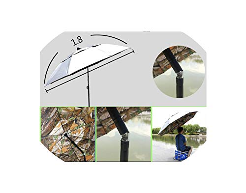 Outdoor Camping Fishing 12 Type Umbrella 1.8-2.2m Universal Rain-Proof Sunscreen Beach Rest Angling Anti-UV Sunshade Awning,O
