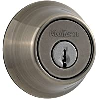 Kwikset 660 Single Cylinder Deadbolt in Antique Nickel by Kwikset