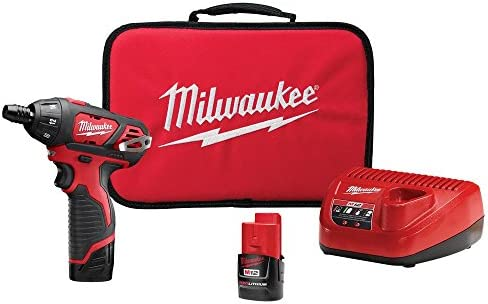 Milwaukee 2401-22 M12 12-Volt Lithium-Ion 1 4 in. Hex Cordless Screwdriver Kit
