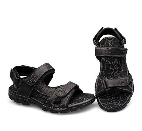 De para Hombres De Abierta Verano De Hombre Sandalias Zapatos Black Punta Sandalias qp6Ag6Z
