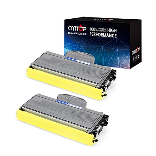 CMTOP TN-360 TN-330 Toner Cartridge Compatible for Brother TN-360 TN360 TN-330 TN330, High Yield, 2 Black, Work with Brother HL-2170W, HL-2140, MFC-7840W, MFC-7340, DCP-7040, DCP-7030, -