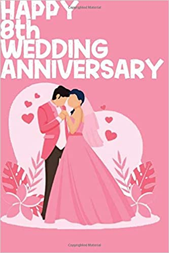 Buy Happy 8th Wedding Anniversary Notebook Gifts For Couples Book