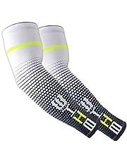 1 paar Cool Mannen Sport Fietsen Running Fiets UV Zon Bescherming Manchet Cover Beschermende Arm Mouw Fiets Arm Warmers Mouwen