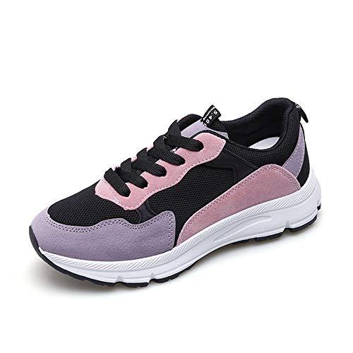 brand new a8b07 0619f Casual Stretch Bianca Studente Autunno Sneaker Piattaforma Traspirante  Calzature Donna Leggero Allaperto Tela Maglia Di Scarpe ...