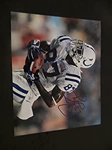 Reggie Wayne Signed Indianapolis Colts Autographed 8x10 Photograph