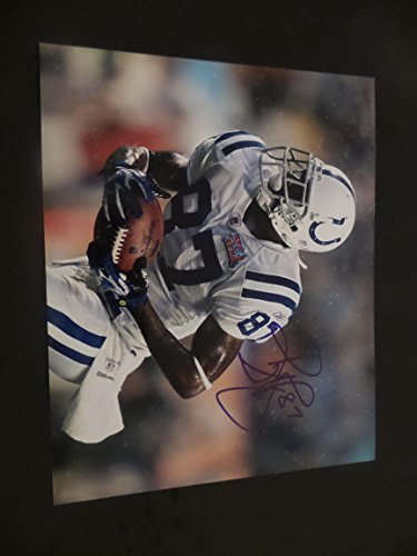Reggie Wayne Signed Colts - Reggie Wayne Signed Indianapolis Colts Autographed 8x10 Photograph