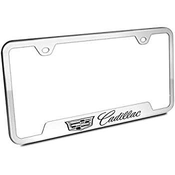 amazon cadillac chrome license plate frame automotive 2001 Cadillac Eldorado Etc automotive gold laser etched mirrored cadillac cut out frame
