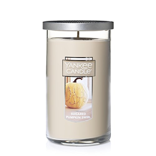 Yankee Candle Medium Perfect Pillar Candle, Sugared Pumpkin Swirl Pillar Pumpkin
