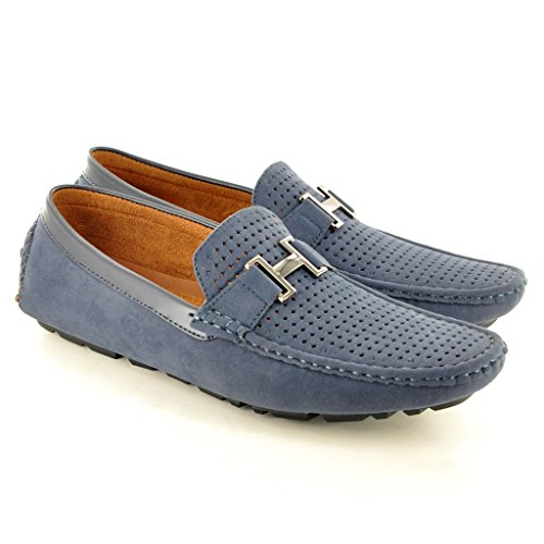 My Perfect Pair , Herren Mokkasins, Blau - Dunkelblau - Größe: 10 UK