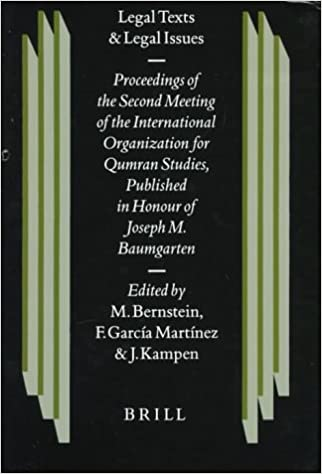 Legal Texts and Legal Issues: Proceedings of the Second Meeting of the International Organization for Qumran Studies Cambridge 1995, Published in (Studies on the Texts of the Desert of Judah)