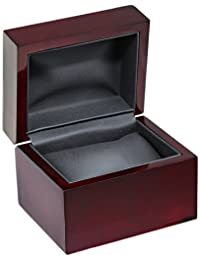 Diplomat 32-16701 Cherry Wood Leather Box Watch Case