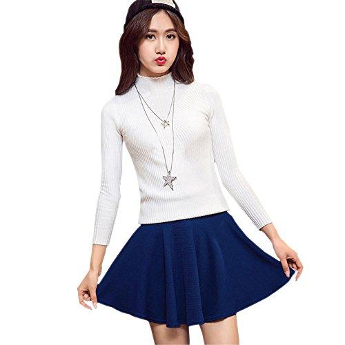 2ce9e640fa Delicado KINDOYO Nueva moda falda plisada de cintura elástica color sólido  más el tamaño falda corta