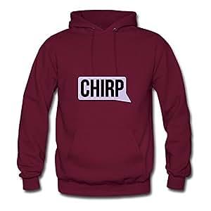 Women Sweatshirts Chirp Bubble Image For Round-collar Hoodies-burgundy X-large