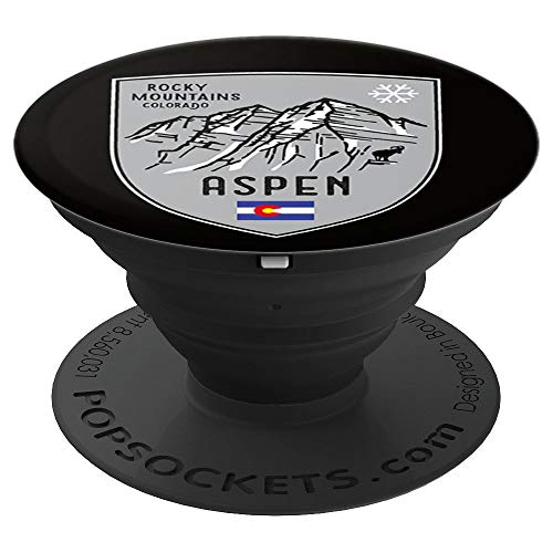 (Aspen Mountain Colorado Ski - PopSockets Grip and Stand for Phones and Tablets)