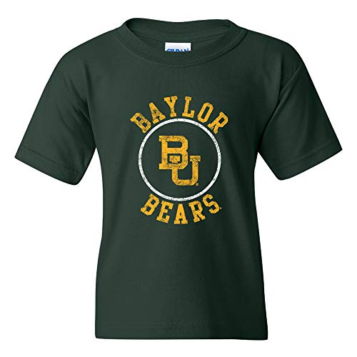 UGP Campus Apparel YS04 - Baylor Bears Distressed Circle Logo Youth T-Shirt - Large - Forest