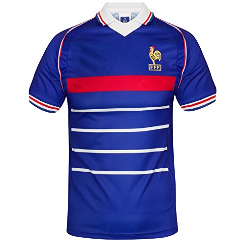 France Official Soccer Gift Mens 1998 World Cup Winners Retro Kit Shirt XL (Soccer France Jersey)