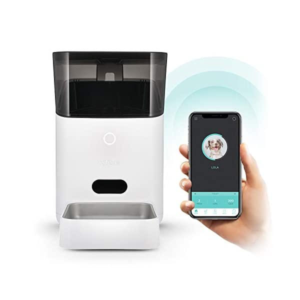 Petnet SmartFeeder (2nd gen) - Automatic Wi-Fi Pet Feeder with Personalized Portions for Cats and Dogs - App for Android, iOS and Compatible with Alexa - White 1