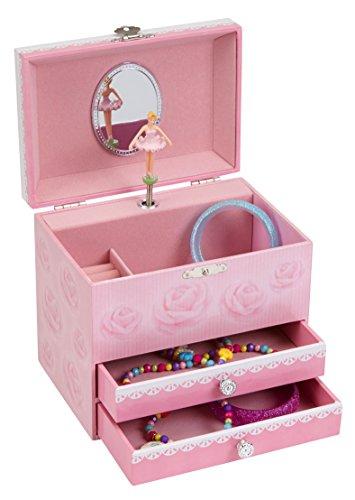 JewelKeeper Ballerina Music Jewelry Box with 2 Pullout Drawers, Swan Lake Tune