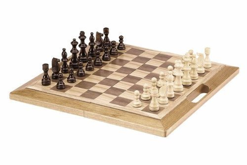 Deluxe Wooden Chess, Checker and Backgammon Set by CHH