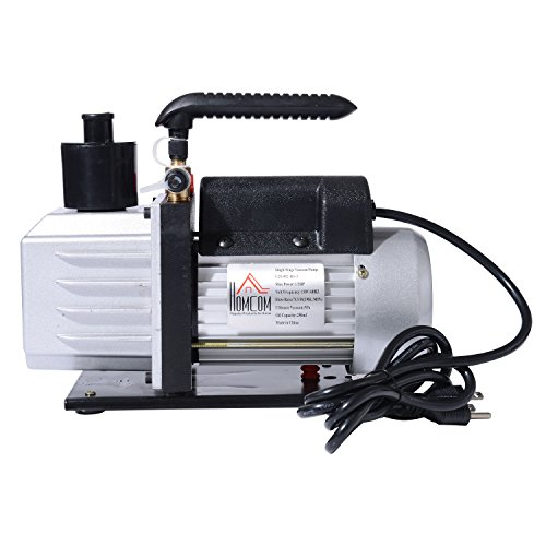 HomCom Single Stage 7 CFM Rotary Vane 1/2 HP HVAC Refrigerant Vacuum Pump by HOMCOM (Image #2)