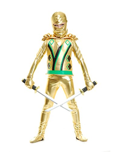 Charades Costumes - Boys Gold Ninja Avenger Series III with Armor