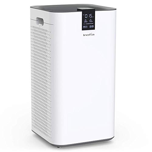Inofia Air Purifier with True HEPA Air Filter, Wi-Fi Intelligent Control, Air Cleaner for Large Room, for Spaces Up to 1300 Sq Ft, Perfect for Home/Office with 2 Filters - Smoke Air Purifier Control