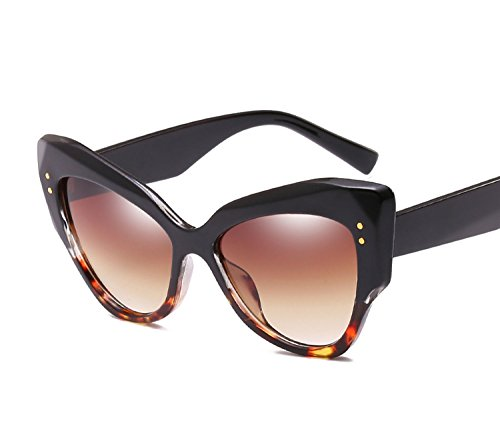 cat eye sunglasses ladies butterfly sunglasses decorative rice spike trend sunglasses ()