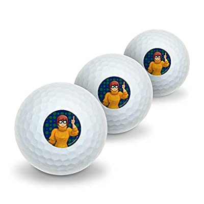 GRAPHICS & MORE Scooby Doo Velma Character Novelty Golf Balls 3 Pack