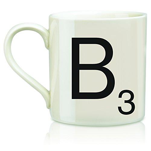 SCRABBLE Vintage Ceramic Letter B Tile Coffee Mug