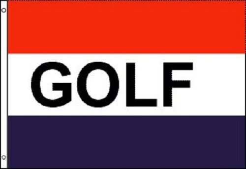 GOLF Flag Golfing Advertising Banner Course Pennant New Indoor Outdoor 3x5 Foot (Course Shores Golf)