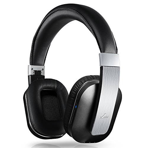 Bluetooth Headphones, iDeaUSA Wireless Headphones with apt-x, Over Ear Headphones with Microphone, Foldable and Comfortable, Hi-Fi Stereo Headphones for TV - Silver
