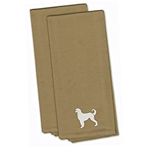 Caroline's Treasures BB3406TNTWE Afghan Hound Tan Embroidered Kitchen Towel Set of 2, 19 X 25, Multicolor 9