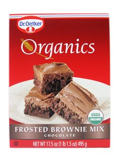 Organics Brownie Mix - Chocolate Frosted 16.5 Ounce (467 grams) Pkg