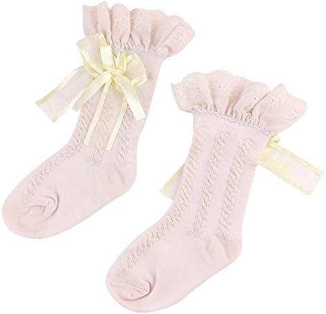 エアコン夏のかわいいレースの綿の赤ちゃんの子供の女の子の女の子のハイソックス秋冬 防寒 厚い 保温 就寝 睡眠用 厚手 暖か 冬の靴下 おしゃれ 快適 室内 室外スリッパ ギフトソッ クリスマス