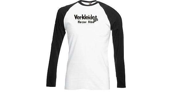 Base Camiseta Larga Carnaval Verkleidet como Harz Queso Carnaval Revestimiento Diversos colores S-XXL - Negro, XXL: Amazon.es: Juguetes y juegos