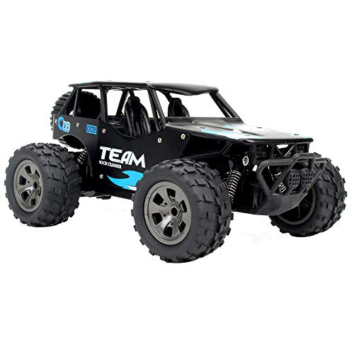 Volity RC Buggy Toys, Livoty Newest 2.4 GHz 2WD High Speed Alloy Case Remote Control Car 1/18 Scale Off Road RC Trucks with 4.8V Rechargeable Batteries, Racing Toy Car for All Adults and Kids