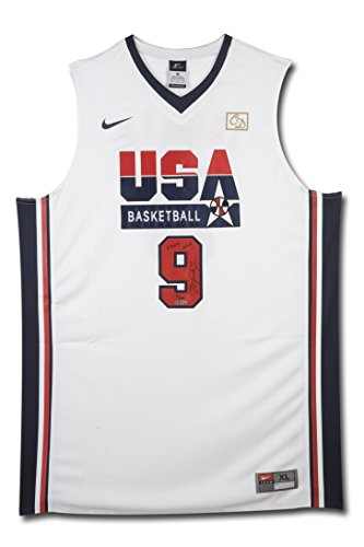 9c5a2cfe0fed Michael Jordan Signed   Inscribed Nike 1992 Olympic Basketball Jersey
