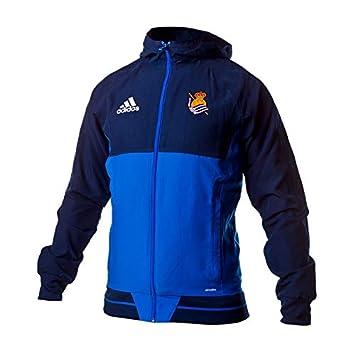 adidas RS Pre Jkt Chaqueta Línea Real Sociedad de Fútbol, Hombre, Azul, L: Amazon.es: Deportes y aire libre