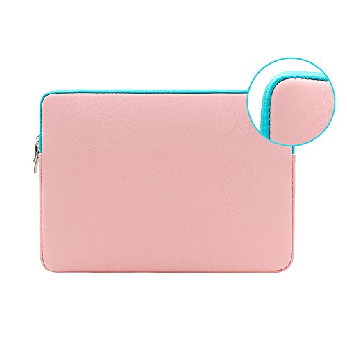 Gateway Chassis (RAINYEAR 15 Inch Colour PU Leather Laptop Sleeve Case Waterproof Protective Soft Slim Fit Padded Bag Cover Specially Used for 15.4 Inch MacBook Pro (Pink))