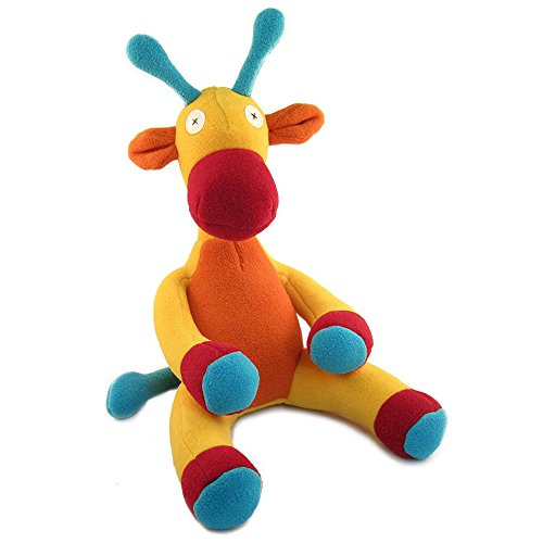 Cate and Levi 16 to 22 Handmade Softy Giraffe Stuffed Animal (100% USA Polar Fleece)