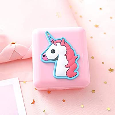 Cute Pink Wing Contact Travel Kit Portable Contact Lens Case