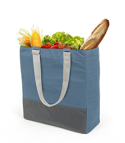 Insulated Canvas Tote Bag/Reusable Grocery Bag/Market Bag for Shopping, Farmers Market, Picnics & More | Multi Compartments & Built-In Shelf Organizes & Protects Produce By Cabaggage ()
