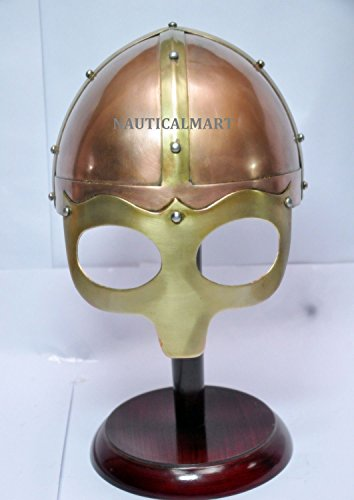 Medieval Knight Viking Helmet Armor Winged Norman Helm Fully Wearable (Norman Knight Costume)