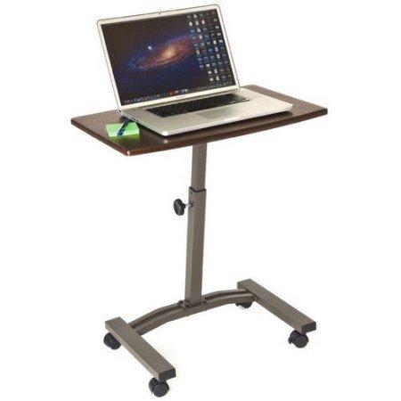 Seville Classics Mobile Laptop Desk Cart, Rich Cherry,Unisex,40mm Locking caster wheels