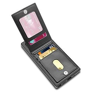 Galaxy Note 10 Plus Case, Galaxy Note 10 Plus Card Holder Case, LakiBeibi Premium Leather Folio Flip Galaxy Note 10 Plus Wallet Case Protective Cover for Samsung Galaxy Note 10 Plus (2019) - Black