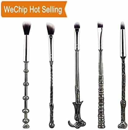 Potter Makeup Brush Set,Wechip Potter Fan Wizard Wand Brushes Eyeshadow Brush for Foundation Blending Blush Concealer Eyebrow Face Powder