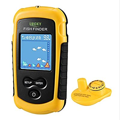 LUCKY FFCW1108-1 Wireless Fish Finder Sonar Fishfinder 40m Depth Range Ocean Lake Sea Fishing