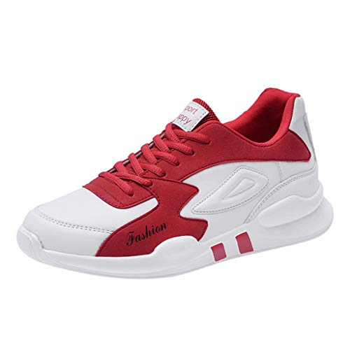 OrchidAmor Men's Casual Lightweight Sport Running Shoes Flats Shoes Sneaker Climbing Shoes Red