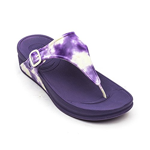Fitflop Super Jelly - Chanclas al dedo Mujer Electric Indigo